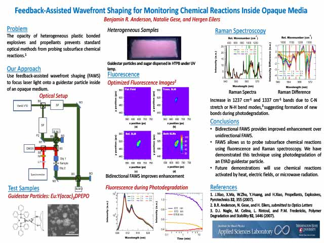 Feedback-Assisted Wavefront Shaping for Monitoring Chemical Reactions Inside Opaque Media