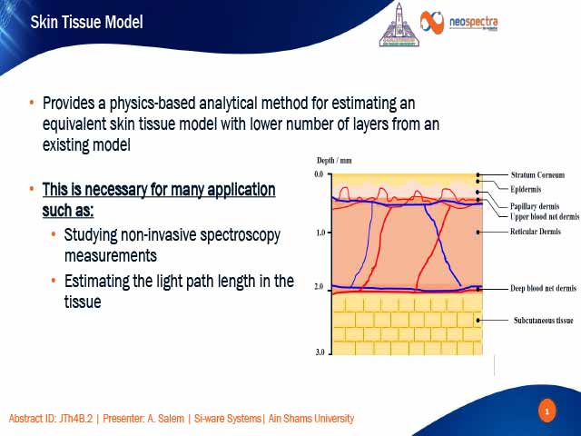 Semi-Analytical Effective Layer Model for the Skin in the SWIR Spectral Range