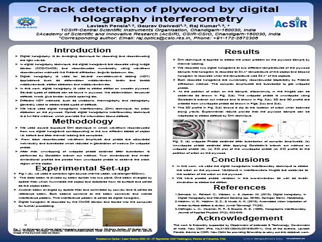 Detection of Crack in Plywood Using Digital Holography Interferometry