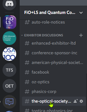 Channel list in the discord server to enable notifications